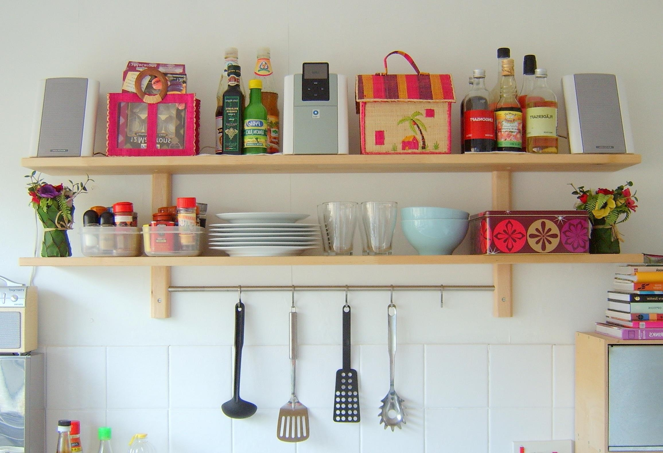 Best Kitchen Wall Shelves Contemporary Aisling Aisling Within Kitchen Wall Shelves (Image 8 of 15)