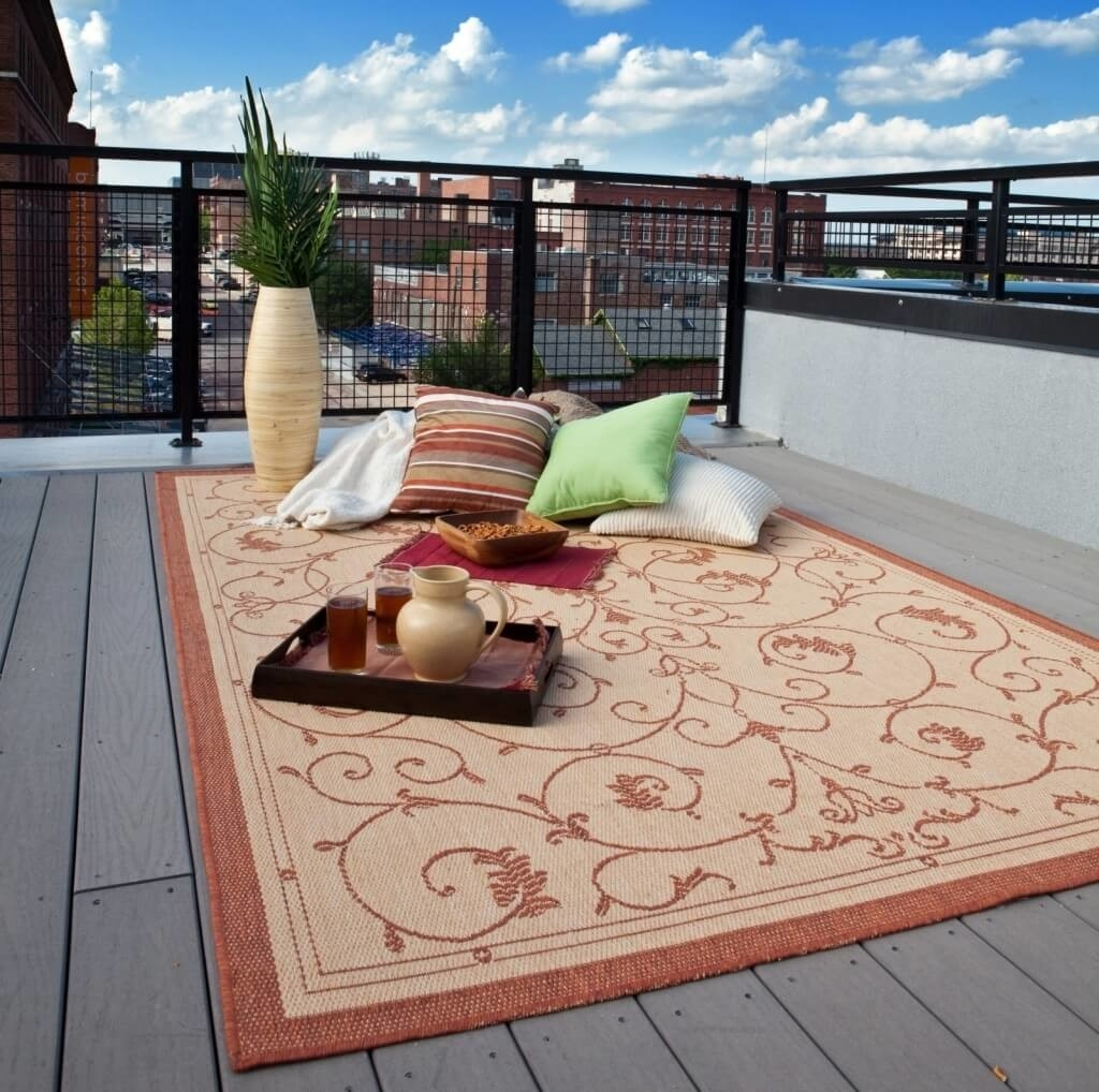 Best Outdoor Rug For Deck Show Home Design With Regard To Outdoor Rugs For Deck (View 2 of 15)