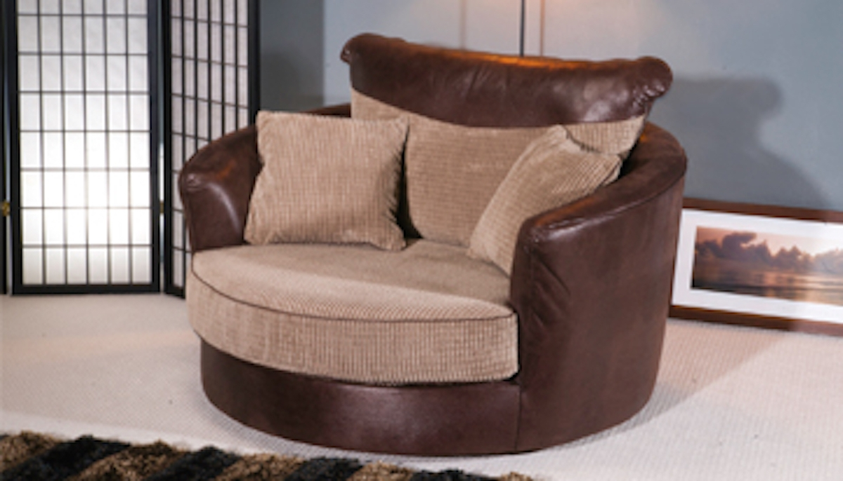 Best Round Swivel Sofa Chair Photos Jeeve Jeeve Within Sofa With Swivel Chair (View 8 of 15)