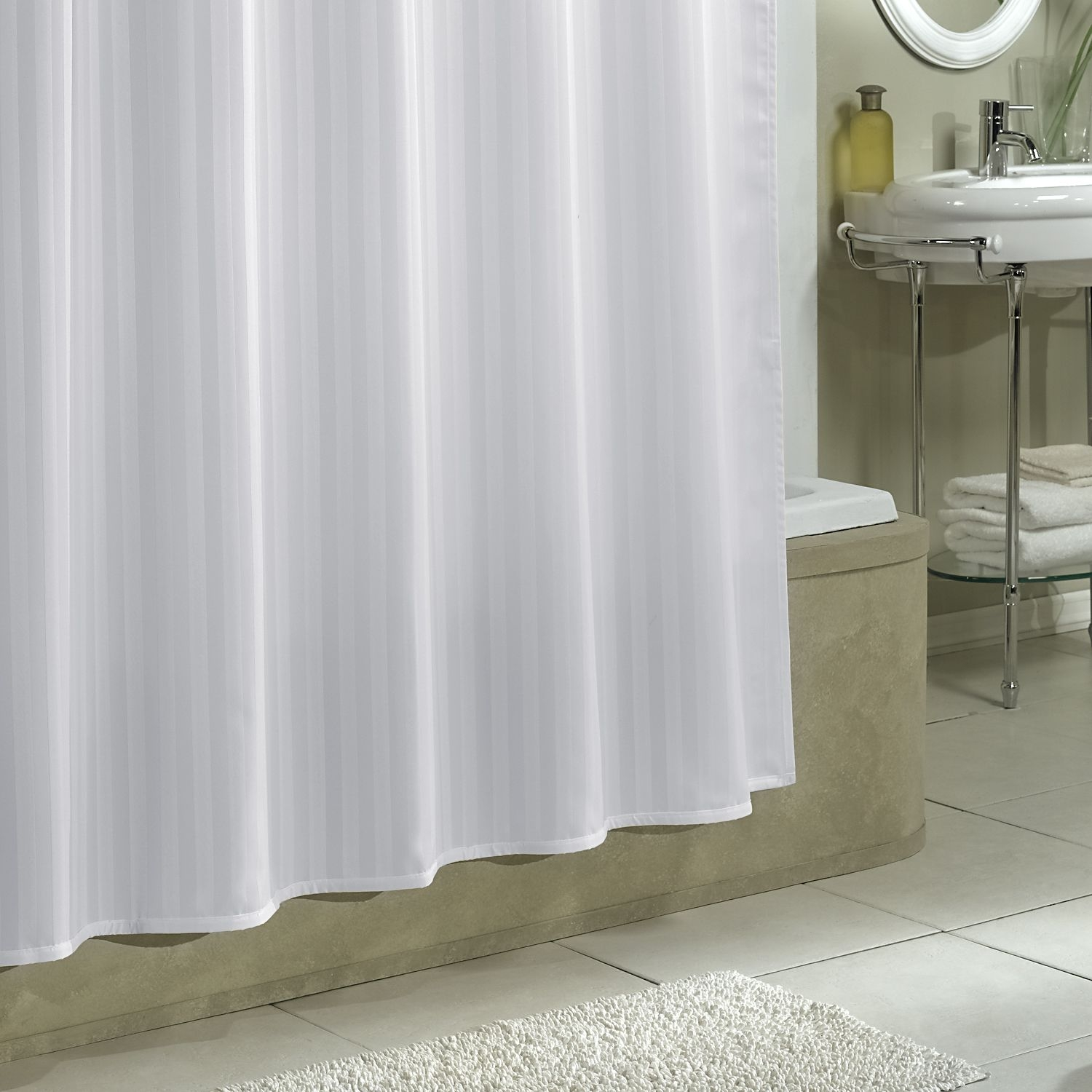 Best Shower Curtain Liners Review Unbiased Guide 2017 Throughout Hookless Fabric Shower Curtain Liner (Image 8 of 25)