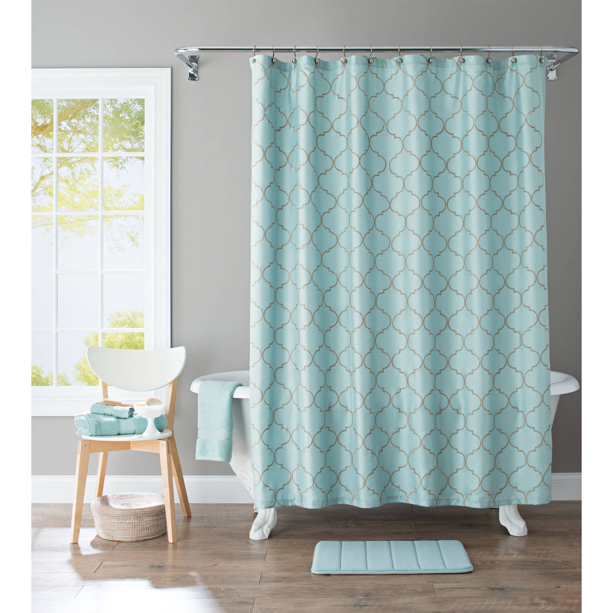 Featured Image of Turquoise Trellis Curtains
