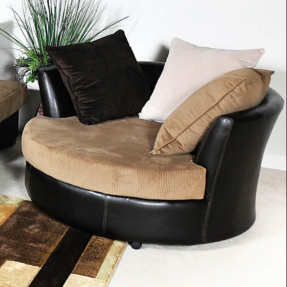 Big Round Sofa Chairs Plush Leather Sofas Round Swivel Cuddle Within Big Round Sofa Chairs (Image 6 of 15)