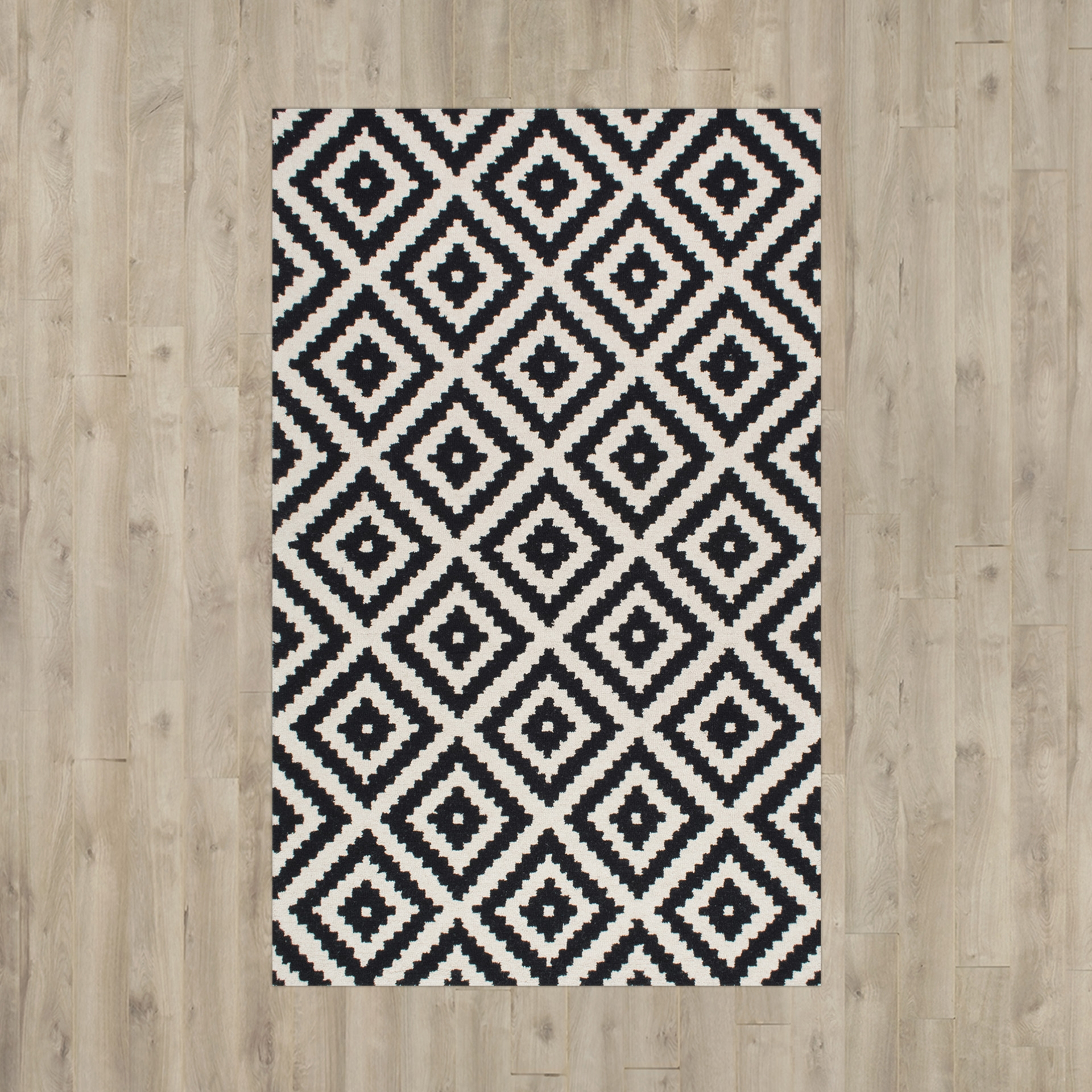 Black And Cream Area Rug Roselawnlutheran Pertaining To Cream And Black Rugs (Image 2 of 15)