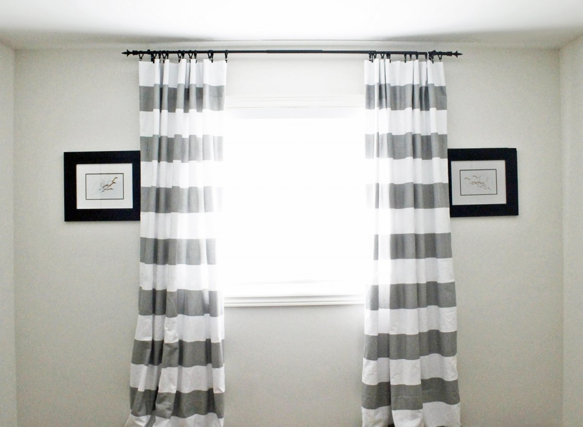 Black And White Horizontal Striped Curtains Uk Best Curtain 2017 In Stripe Curtains (Image 5 of 25)