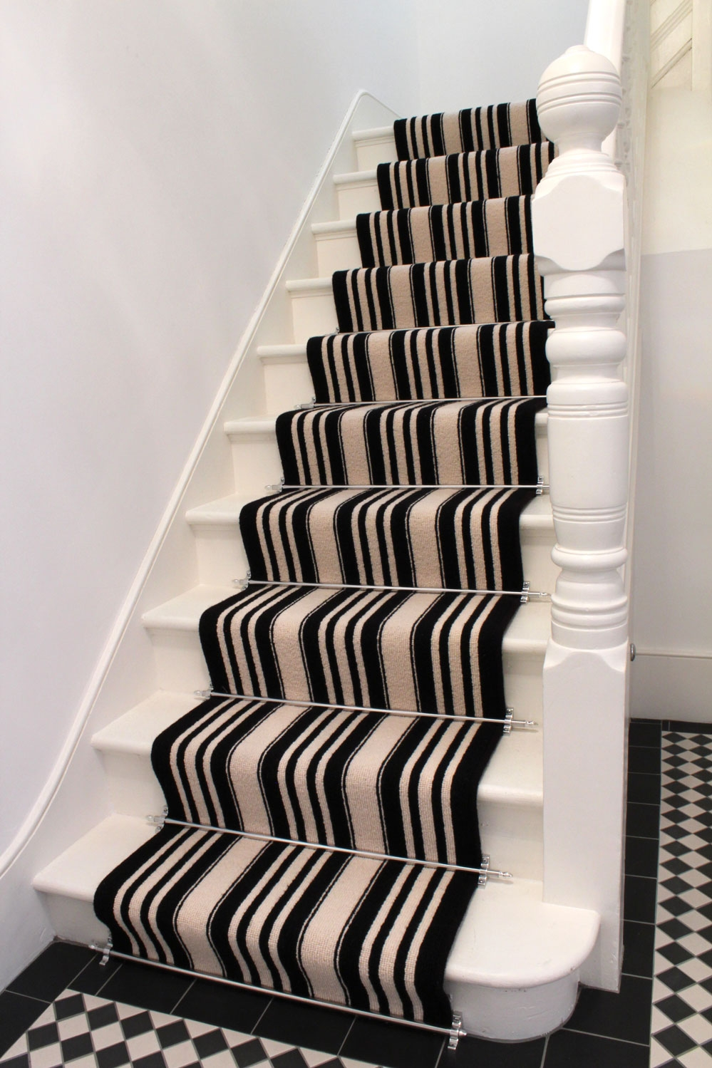 Black And White Striped Stair Carpet The Flooring Group Deco For Cream And Black Carpets (Image 2 of 15)