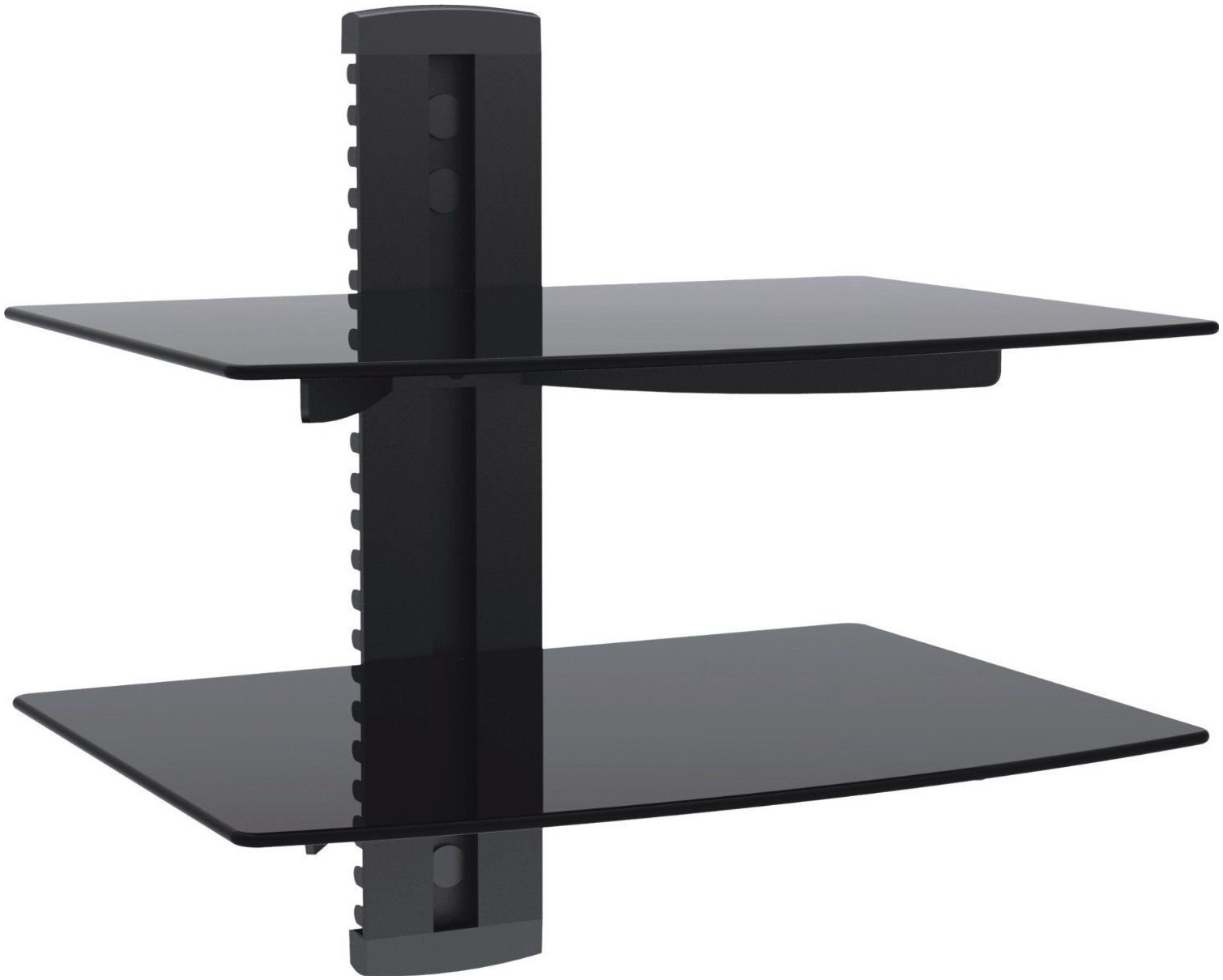 Black Glass Floating Shelves Uk Amazoncom 2xhome Tv Wall Mount With Black Glass Floating Shelf (Image 3 of 15)