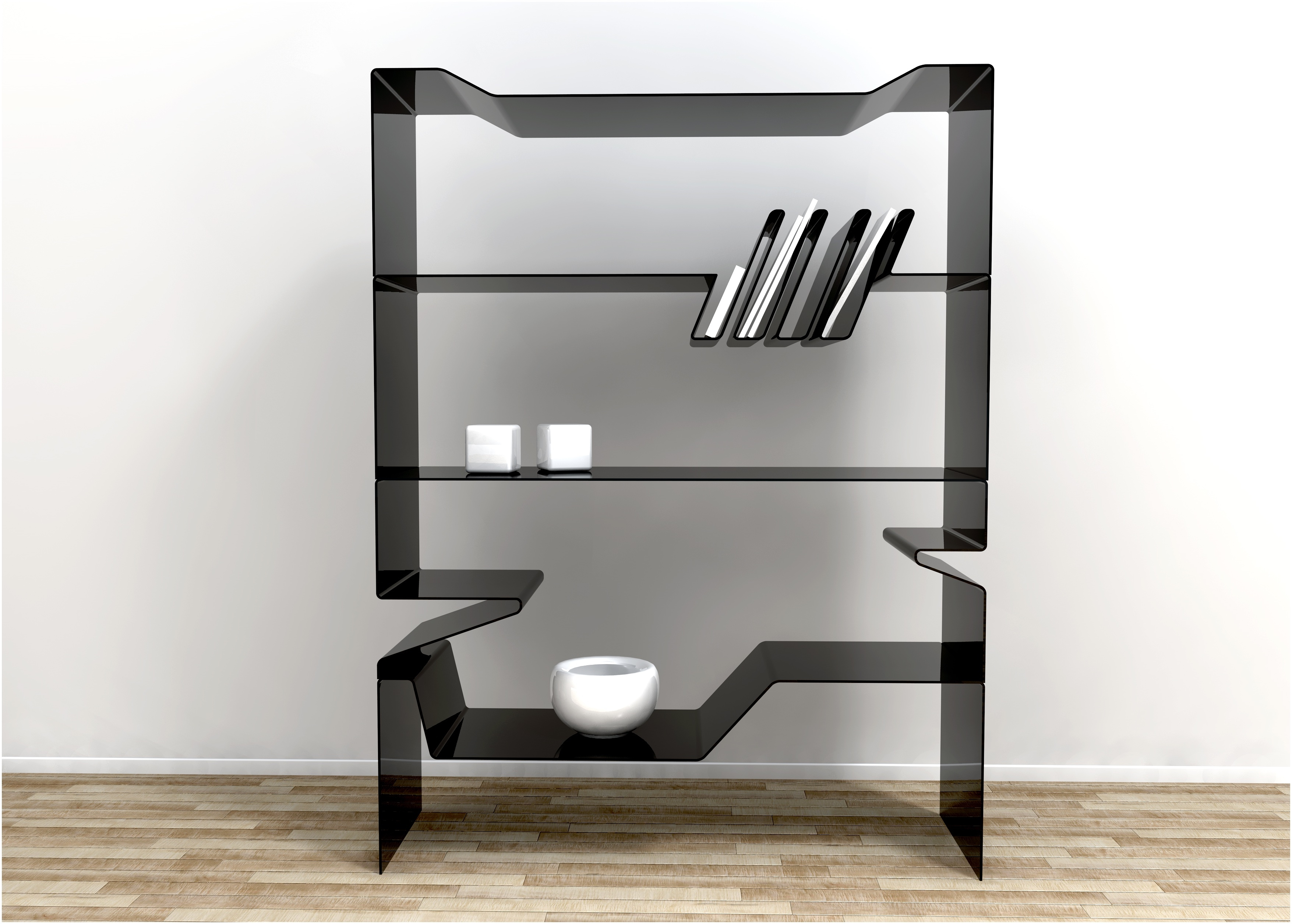Black Glass Shelves Wall Mounted Geometric Glass Wall Shelf Black In Black Glass Shelves Wall Mounted (Image 5 of 15)