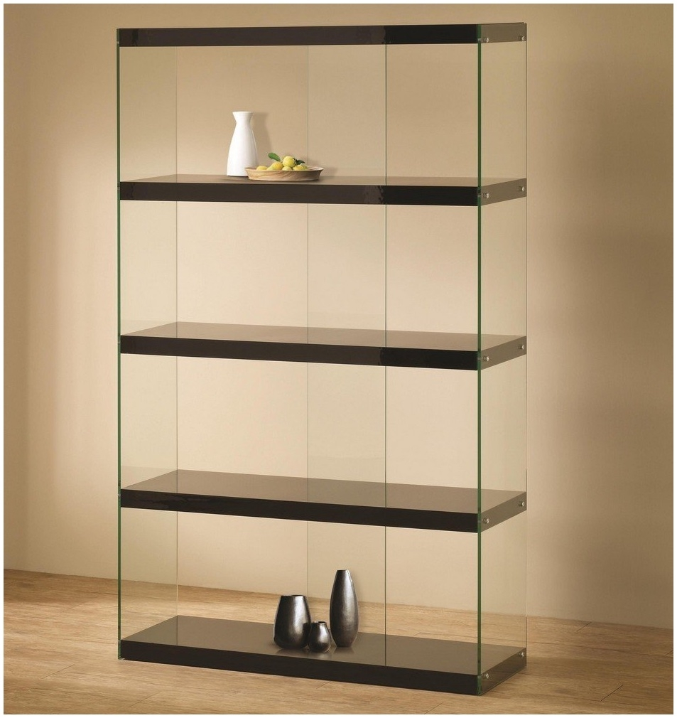 Black Glass Wall Shelf Most Seen Ideas In The Black Glass Shelves Throughout Black Glass Shelves Wall Mounted (Image 6 of 15)
