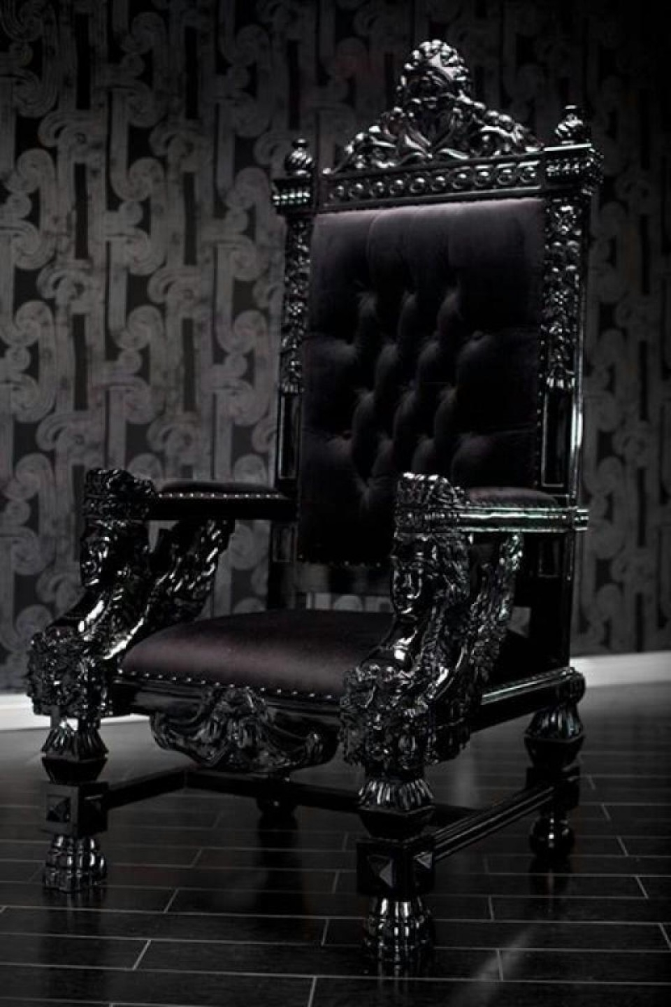 Black Gothic Furniture Nanobuffet Throughout Gothic Sofas (Image 5 of 15)
