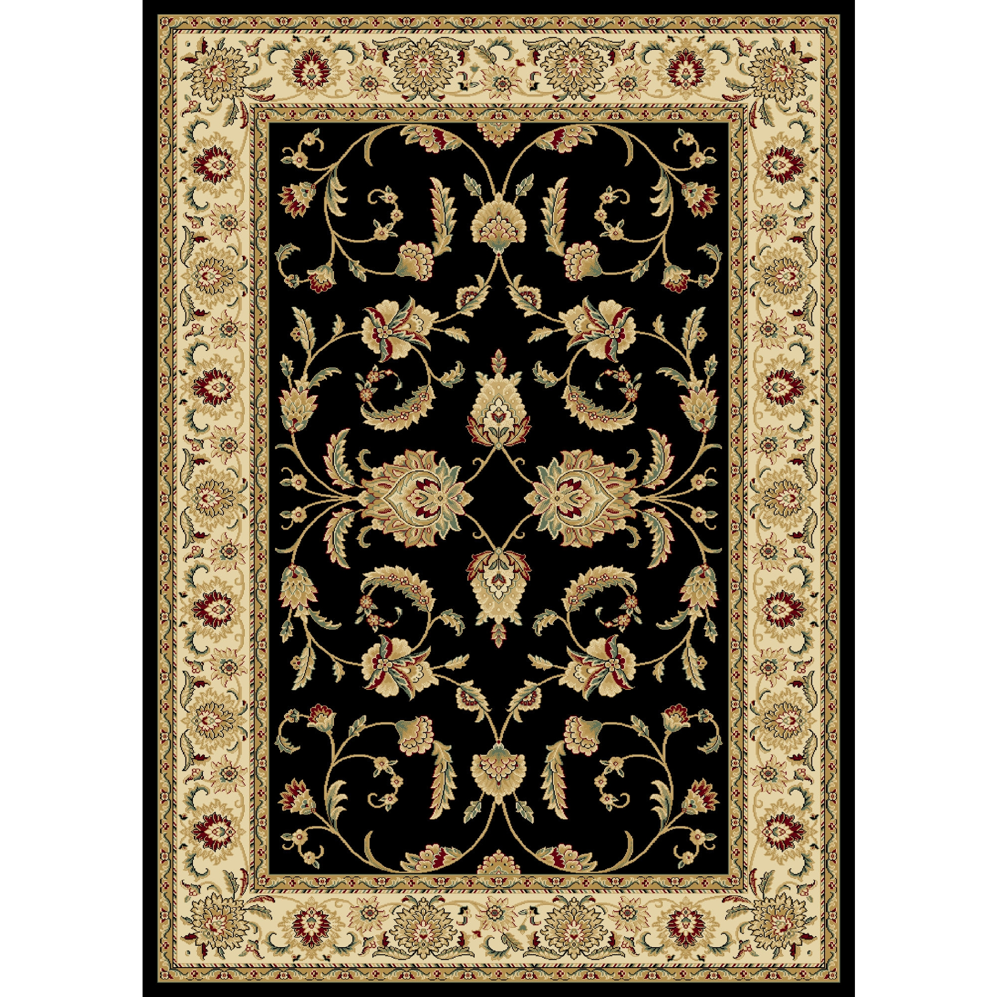 Black Persian Rug Roselawnlutheran Intended For Oriental Persian Rugs (View 11 of 15)