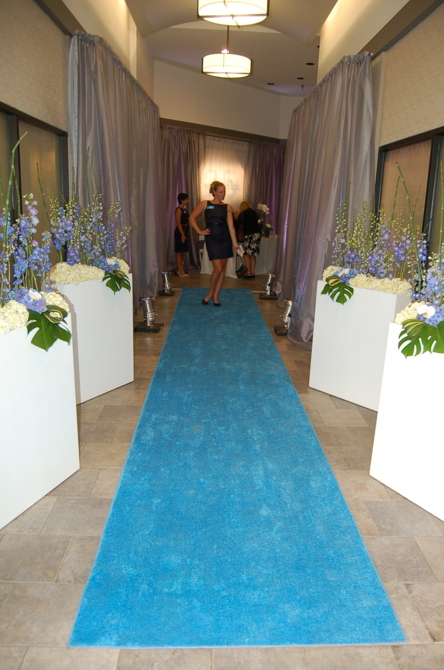 Blue Aisle Runners With Blue Carpet Runners (Image 1 of 15)