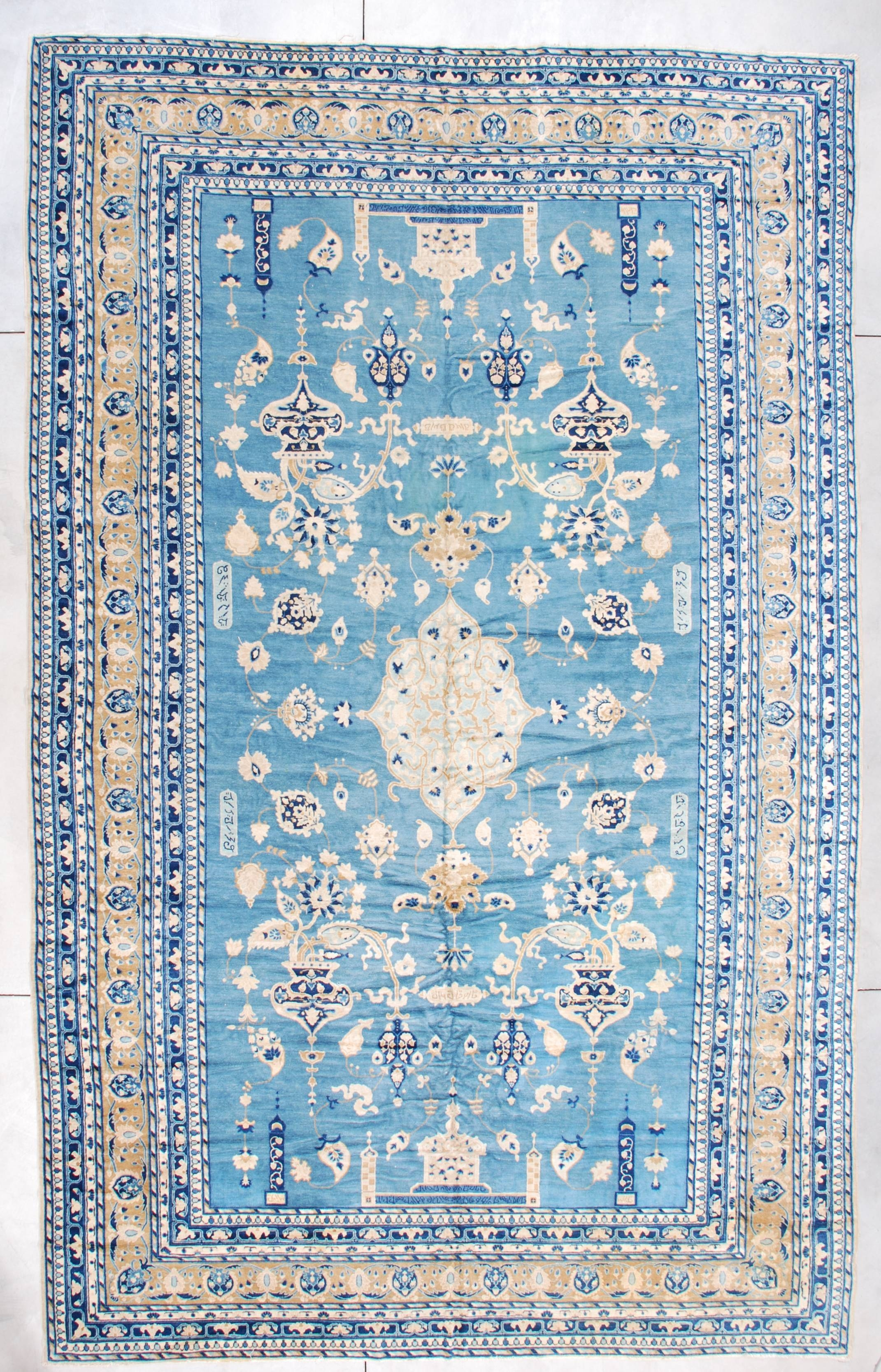 Blue Antique Persian Rug This Rug Is In Mint Condition Oriental With Regard To Blue Persian Rugs (Image 4 of 15)