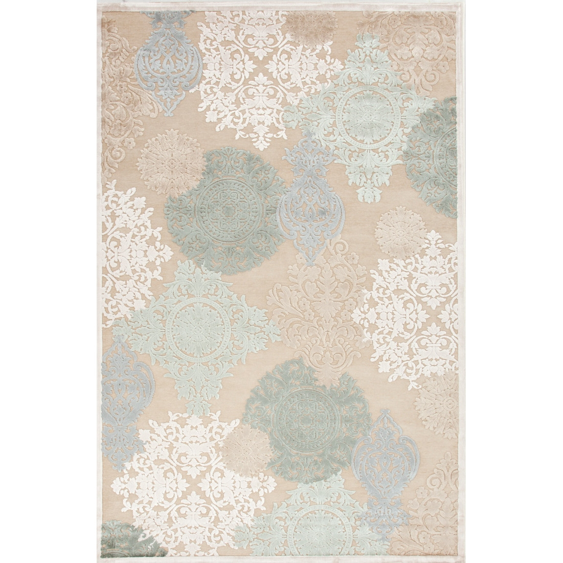 Blue Floral Area Rug Roselawnlutheran With Regard To Light Blue And Cream Rugs (Image 3 of 15)