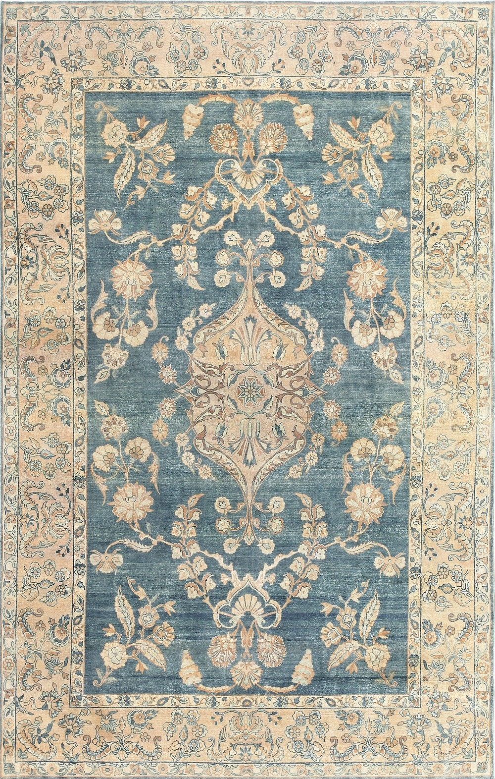 Blue Persian Rug Cievi Home Inside Blue Persian Rugs (Image 6 of 15)