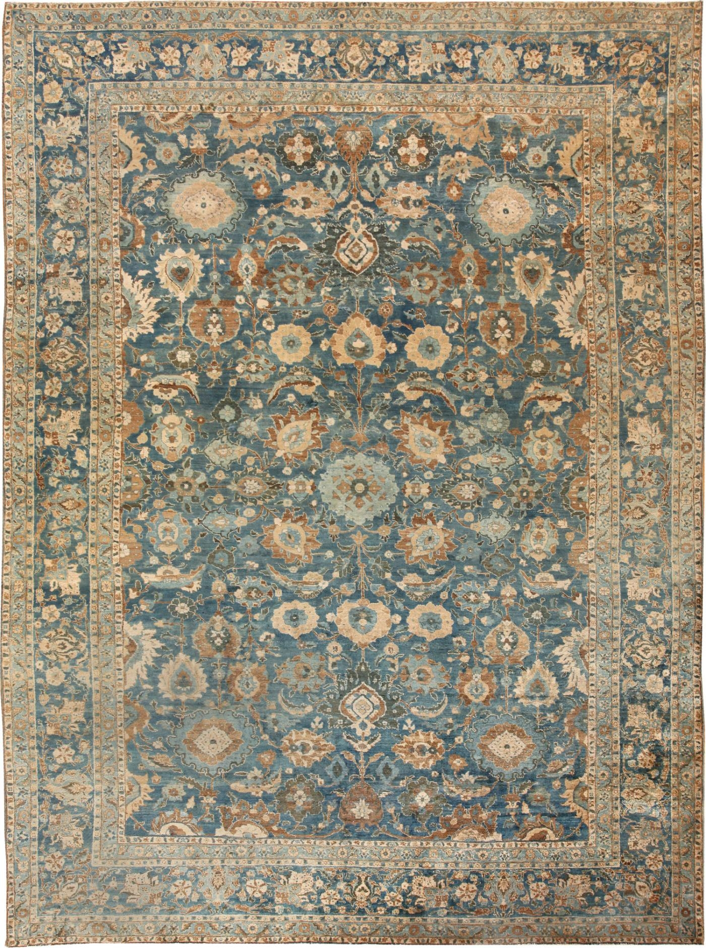 Blue Persian Rug Cievi Home Pertaining To Blue Persian Rugs (View 4 of 15)