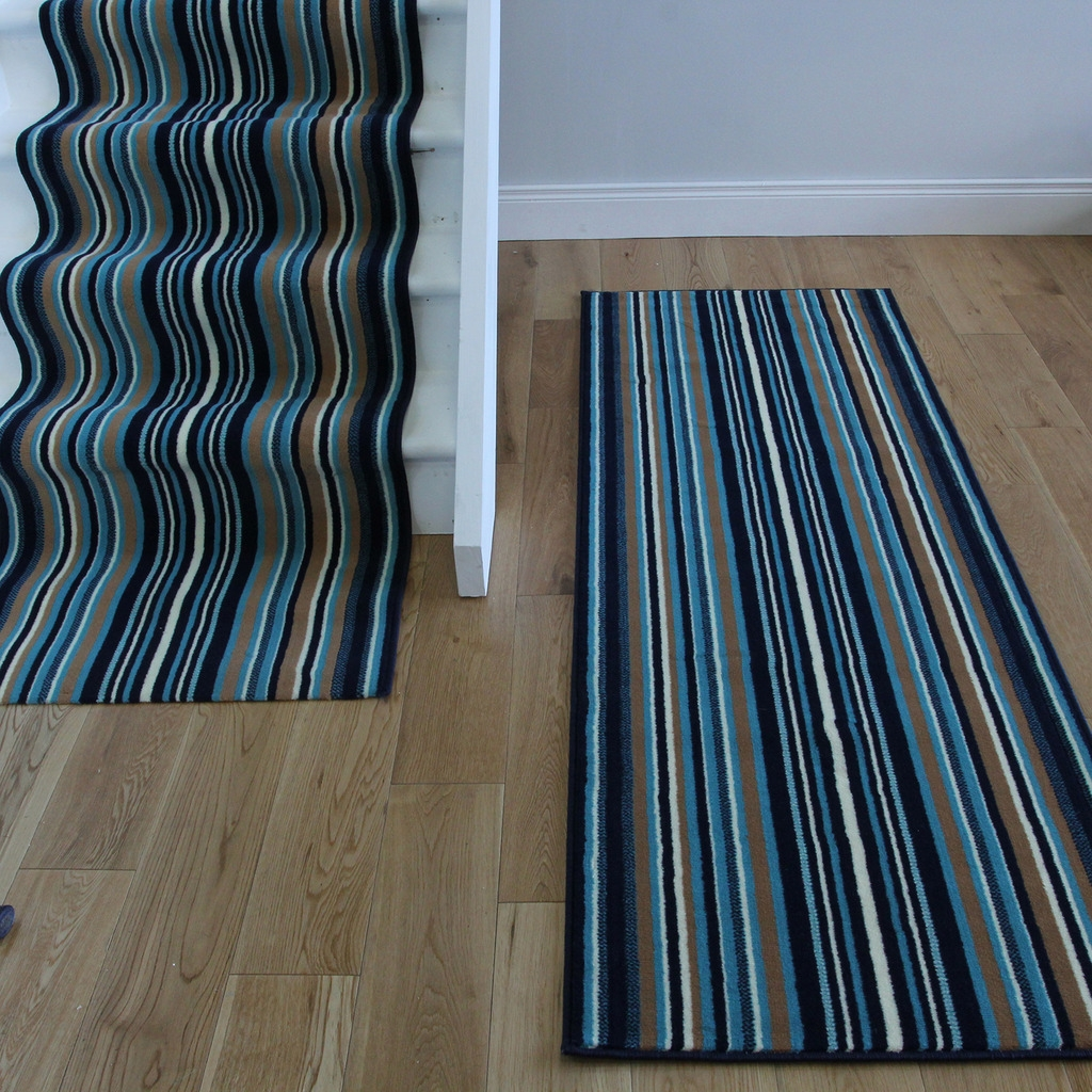 Blue Rug Runners Roselawnlutheran Within Blue Carpet Runners (Image 7 of 15)