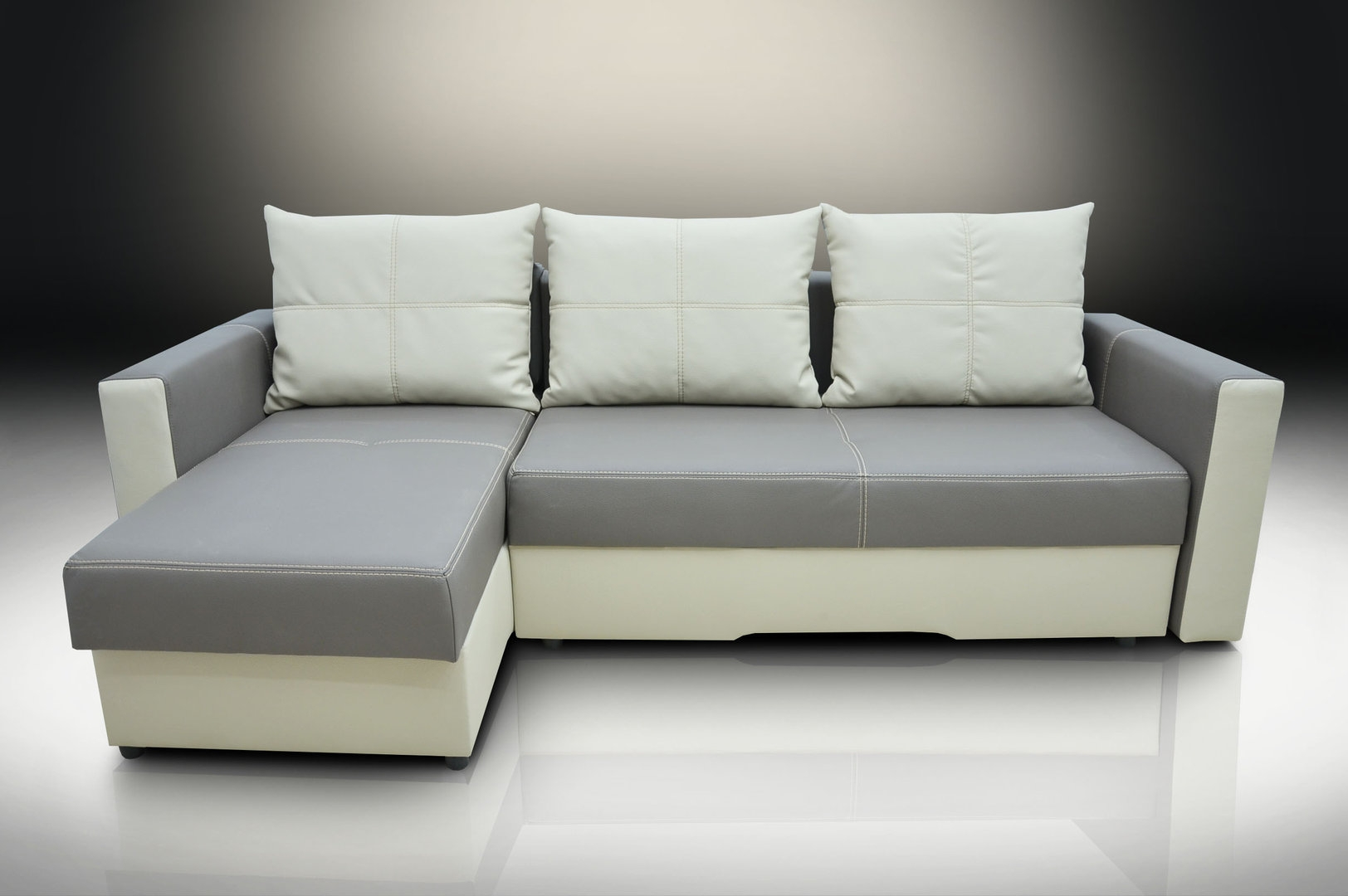 Bonded Leather Corner Sofa Bed Bristol Elephanttoffee Intended For Bristol Sofas (Image 1 of 15)
