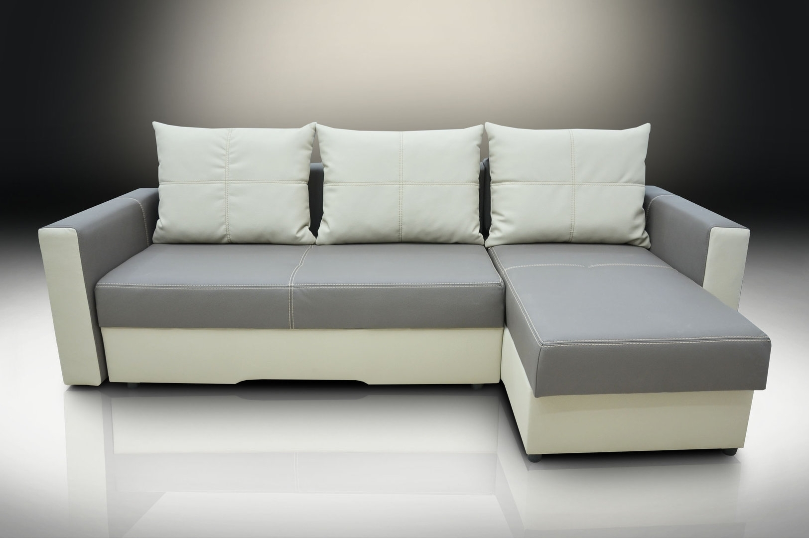 Bonded Leather Corner Sofa Bed Bristol Elephanttoffee With Fresh Within Corner Sofa Bed Sale (View 10 of 15)