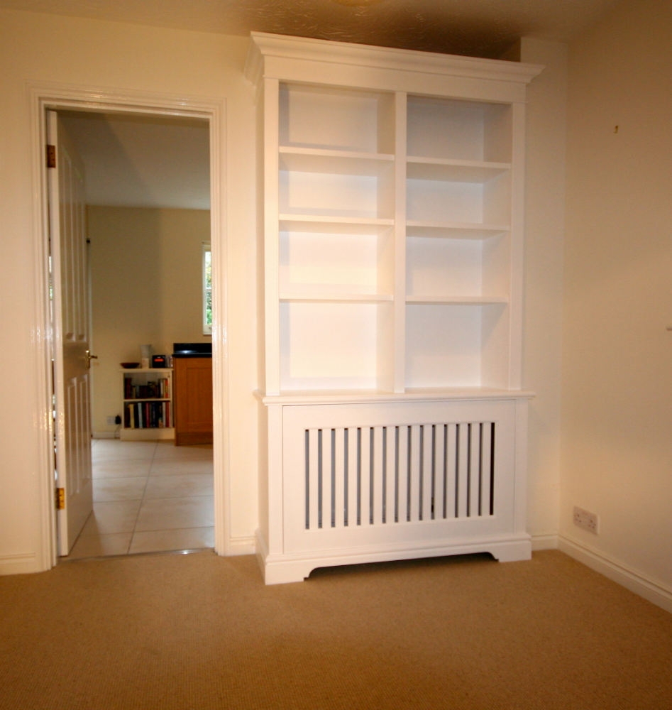 Bookcase Incorporating Radiator Cabinet In Earlsfield The In Radiator Bookcase Cabinets (Image 2 of 15)