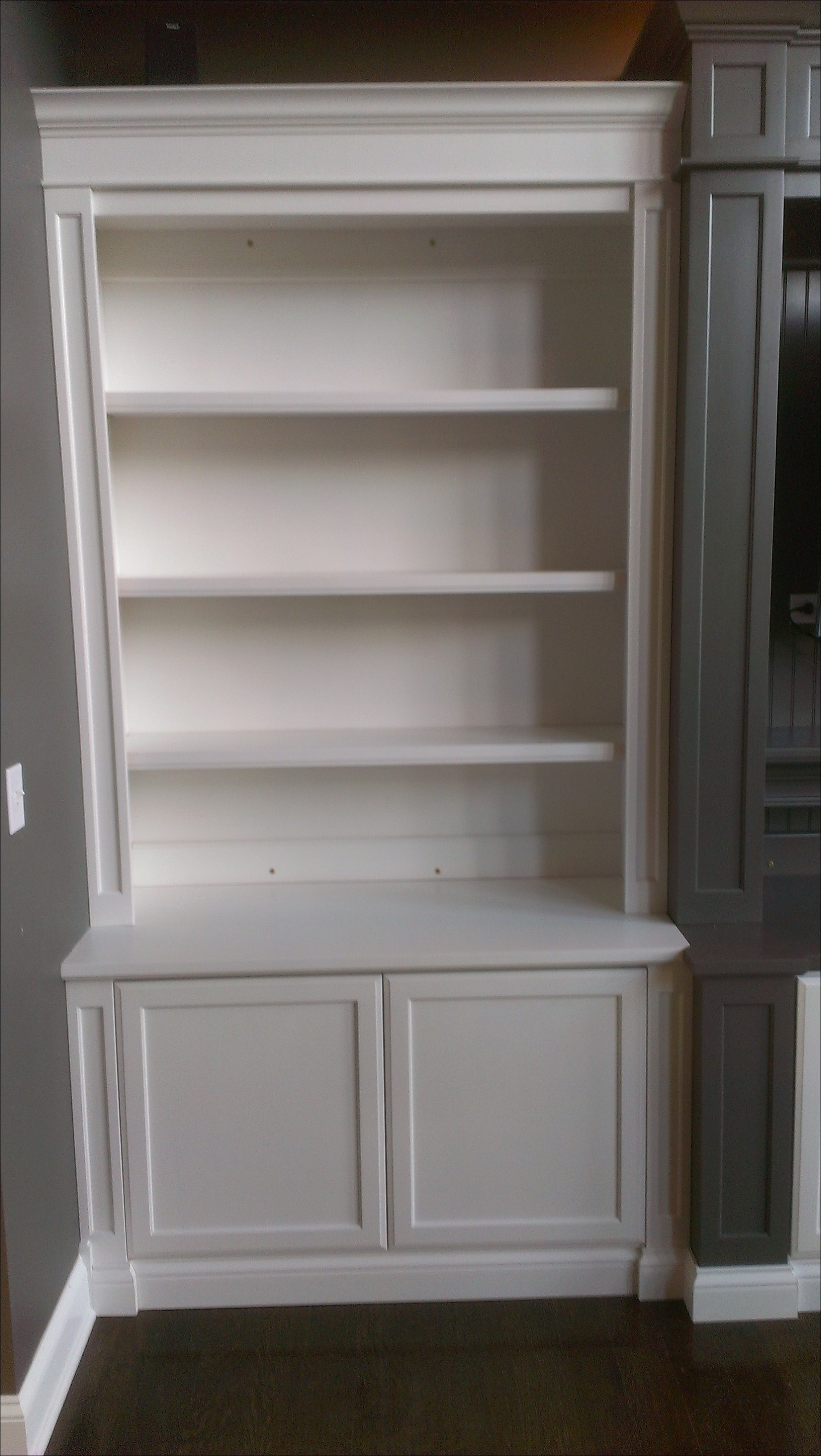 Bookcases Storages Shelves Cheap White Bookshelves With Regarding Bookcase With Cabinet Base (View 11 of 15)