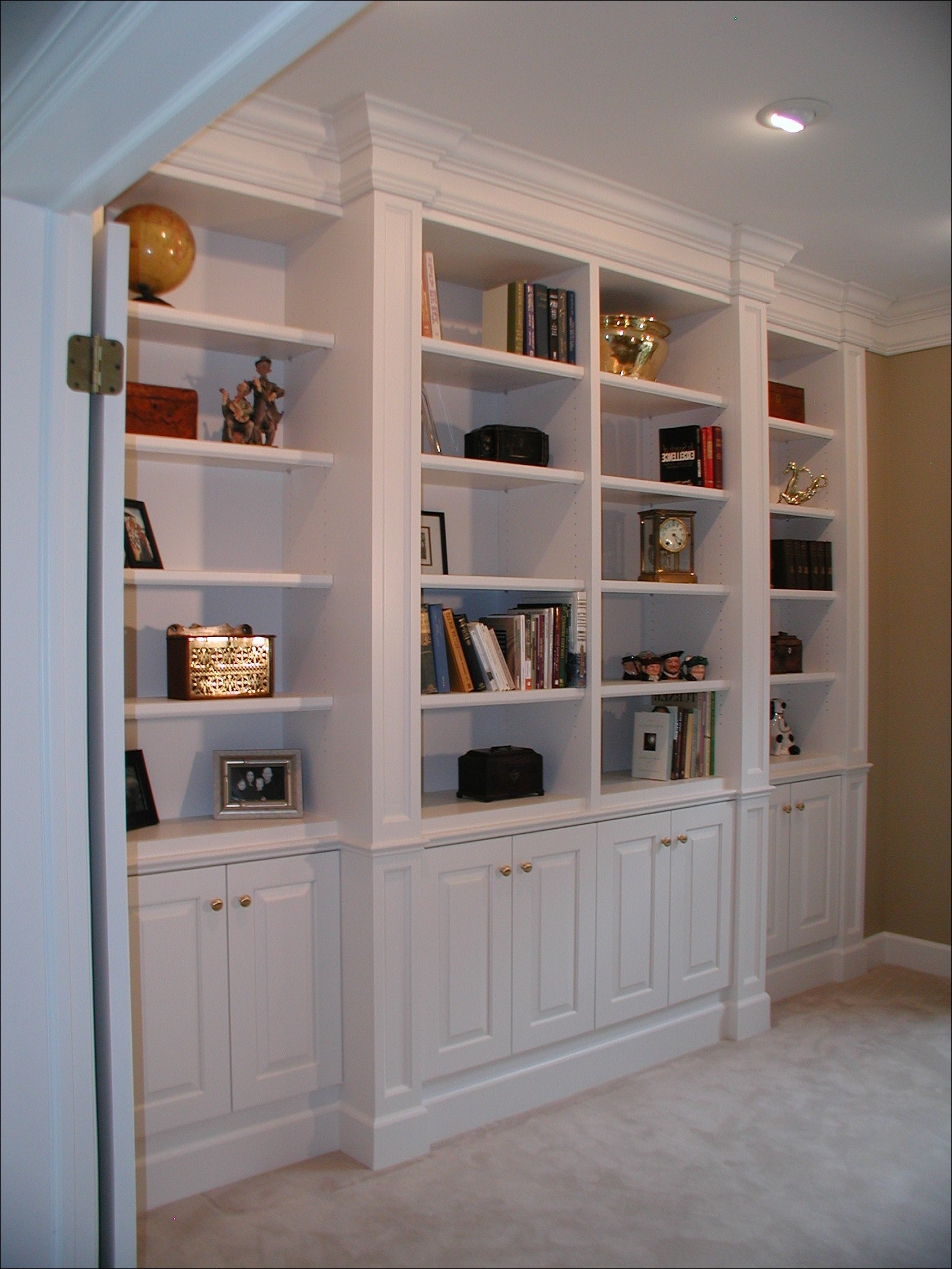 Bookcases Storages Shelves Cheap White Bookshelves With With Regard To Bookcase With Bottom Cabinets (Image 4 of 15)