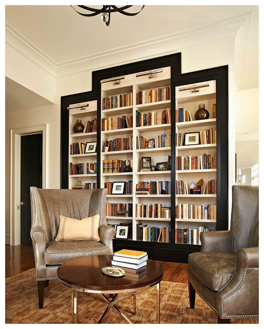 Bookshelves Study At Ncstate Chancellors House Design Lines Ltd Throughout Book Cabinet Design (Image 5 of 15)