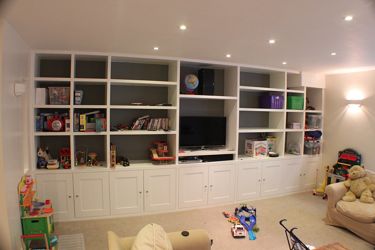 Bookshelves With Tv Mpfmpf Almirah Beds Wardrobes And In Bookcases With Cupboards (View 13 of 15)