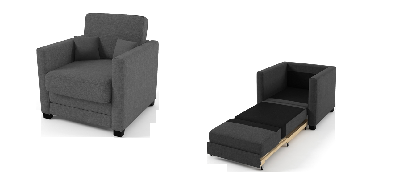Boom Chair Sofa Bed Grey Fabric Chairs Pertaining To Sofa Bed Chairs (Image 6 of 15)