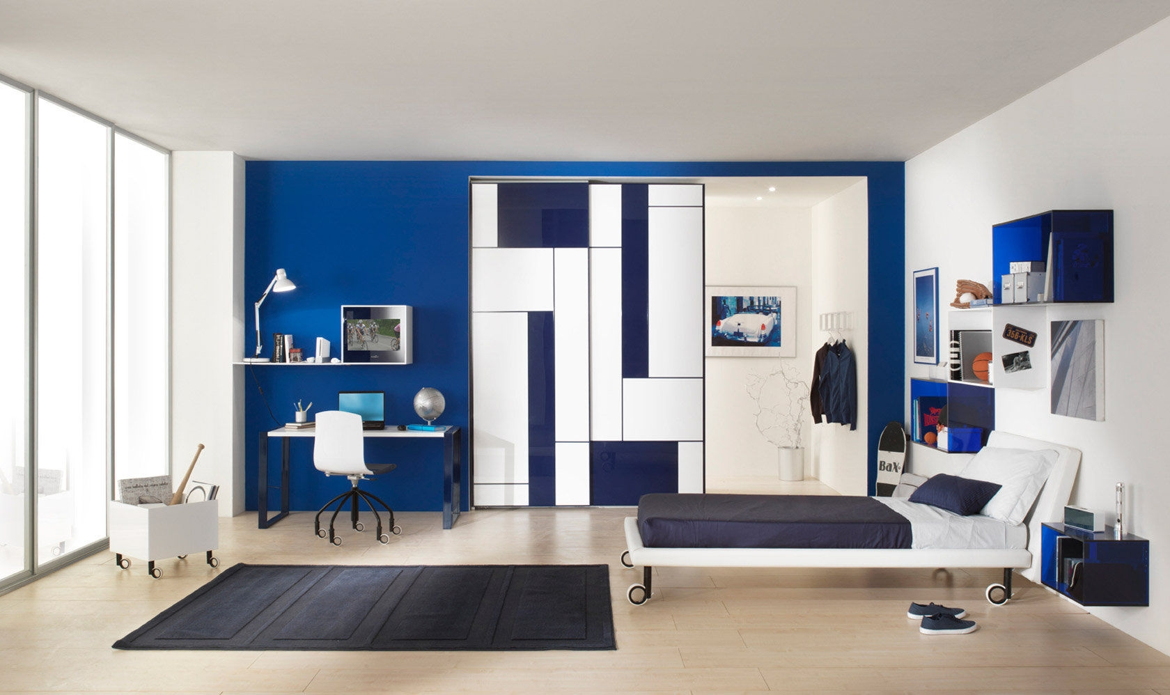 Boys Bedroom Furniture Set White Kubika Compozione 3 With Childrens Bedroom Wardrobes (Image 11 of 25)