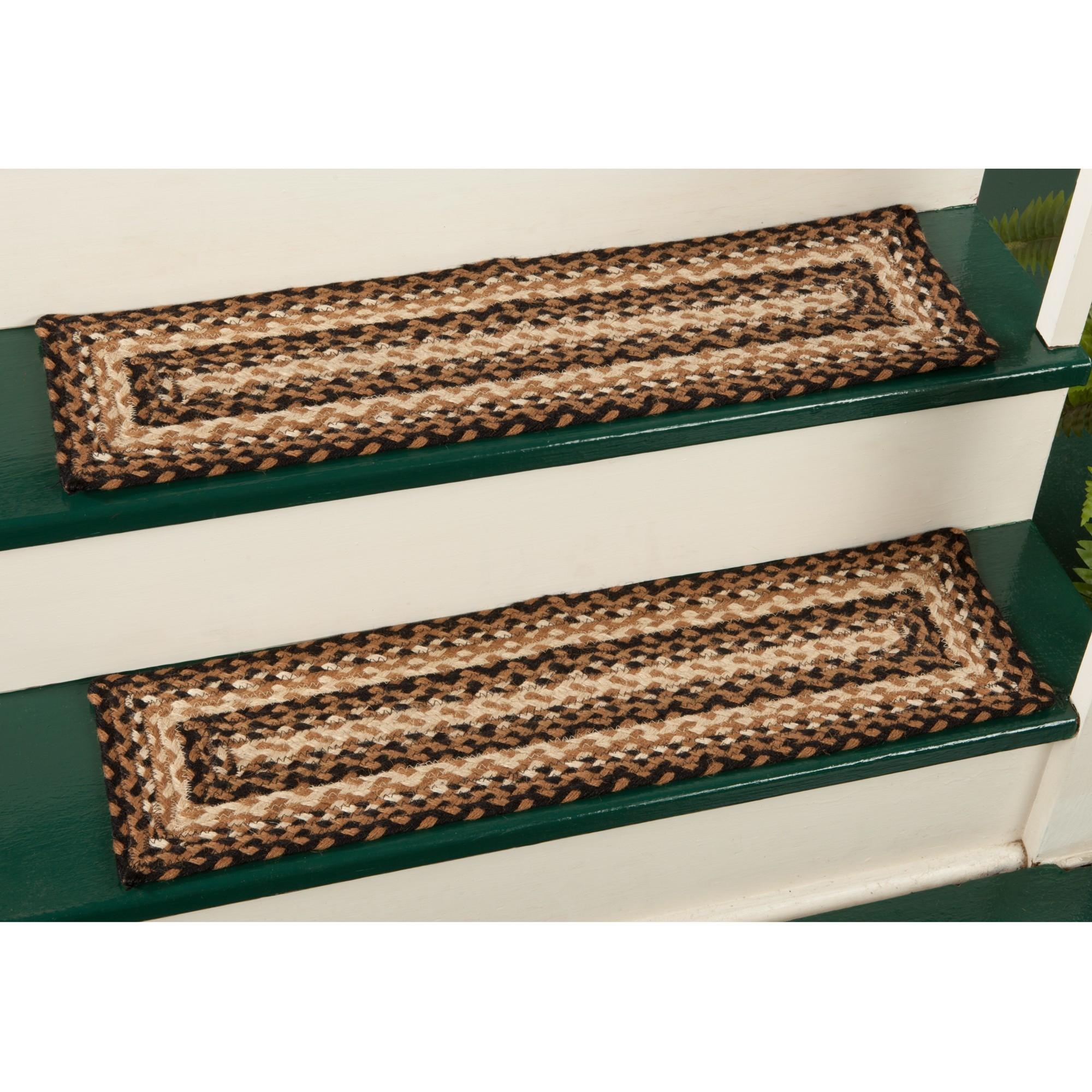 Braided Stair Tread Rugs Roselawnlutheran In Rectangular Stair Tread Rugs (Image 2 of 15)