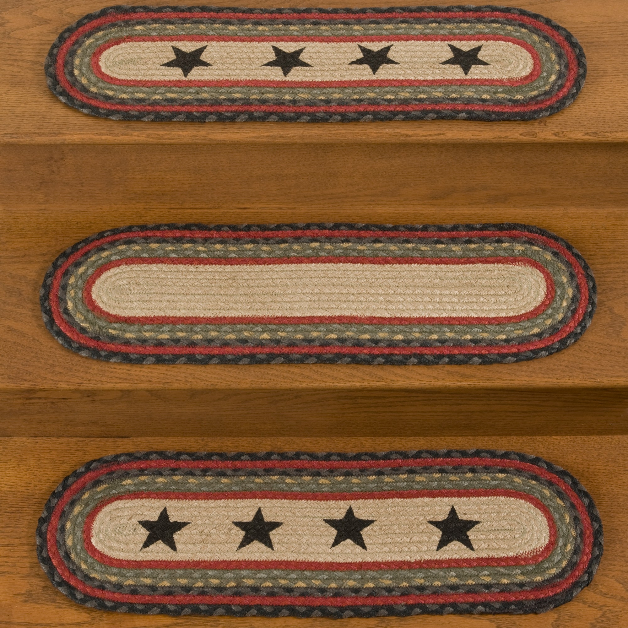 Braided Stair Tread Rugs Roselawnlutheran Intended For Country Stair Tread Rugs (Image 3 of 15)