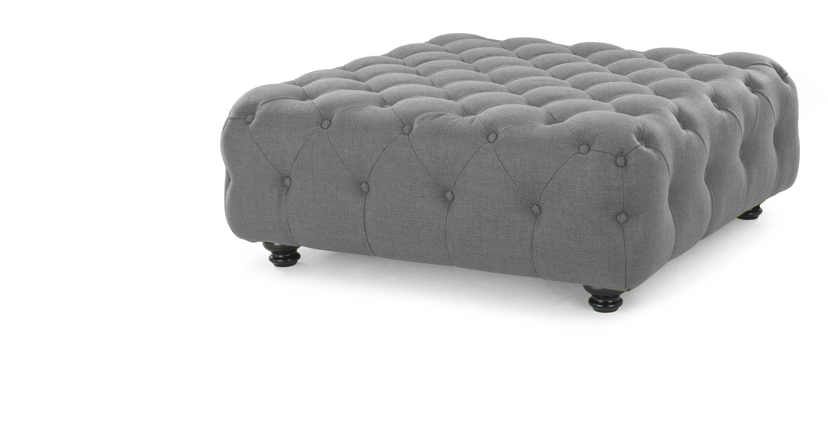Branagh Large Footstool In Pearl Grey Made Within Large Footstools (Image 7 of 15)