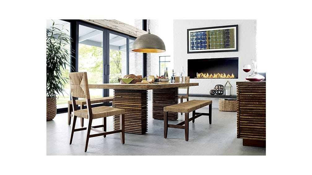 Brilliant Best Crate And Barrel Pendants In Paloma Ii Reclaimed Wood Dining Table Crate And Barrel (Image 4 of 25)