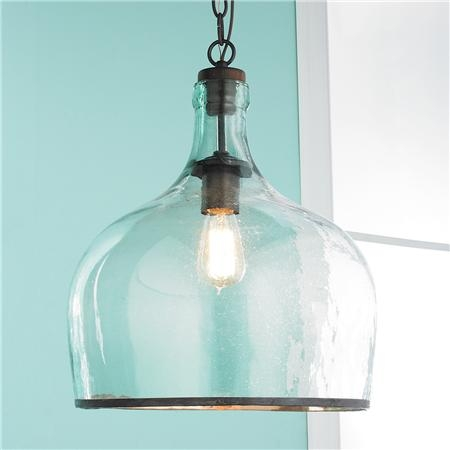 Brilliant Best Glass Jug Pendants With Reproduction Glass Cloche Pendant Pendants Pendant Lighting And (Image 6 of 25)