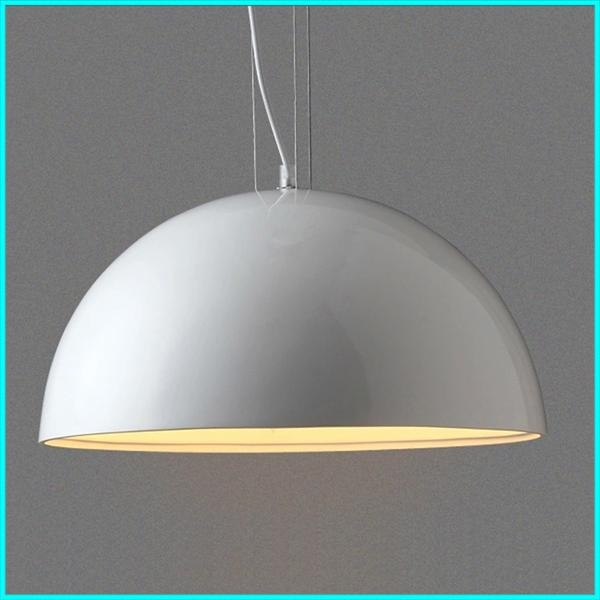 Brilliant Best Led Pendant Lighting Fixtures Pertaining To Round Led Pendant Light Skygarden Modern White Hanging Lighting (Image 5 of 25)