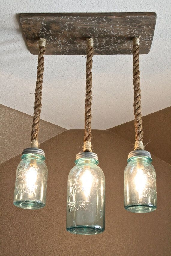 Brilliant Best Mason Jar Pendant Lamps Regarding 15 Diy Mason Jar Lights Blue Mason Jars Pendant Lighting And (Photo 20 of 25)