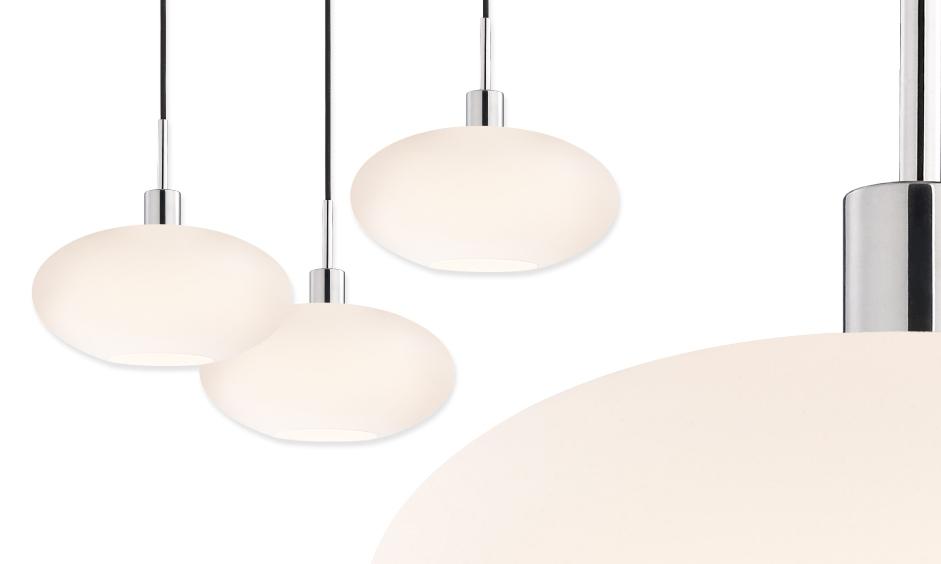 Brilliant Brand New 3 Light Pendants Inside Glass Pendants Grand Oval 3 Light Pendant356701k 3 Sonneman A (Image 6 of 25)