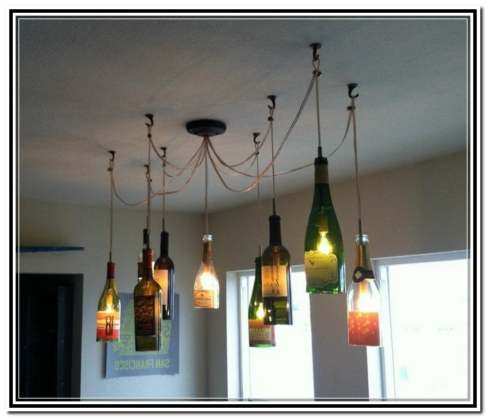 Brilliant Brand New Wine Bottle Pendant Light Regarding Wine Bottle Pendant Light Sl Interior Design (Image 3 of 25)