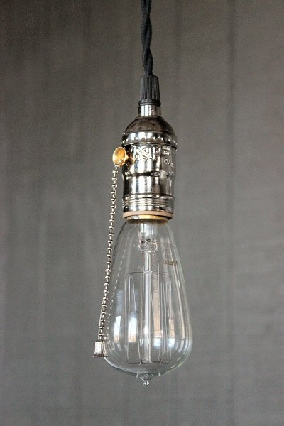 Brilliant Common Bare Bulb Hanging Light Fixtures With Regard To Industrial Bare Bulb Pendant Light Silver Pull Chain Socket (Image 3 of 25)