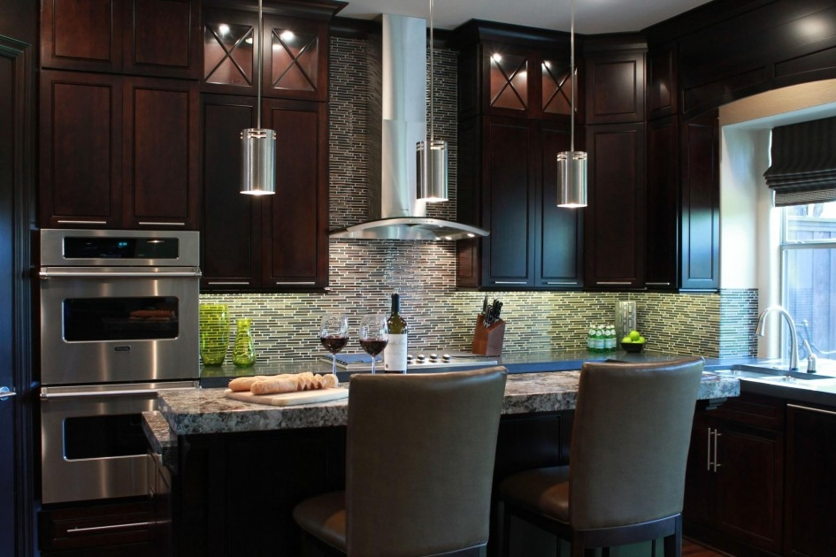 Brilliant Deluxe Brushed Stainless Steel Pendant Lights With Riveting Contemporary Kitchen Island Pendants With Brushed (View 25 of 25)