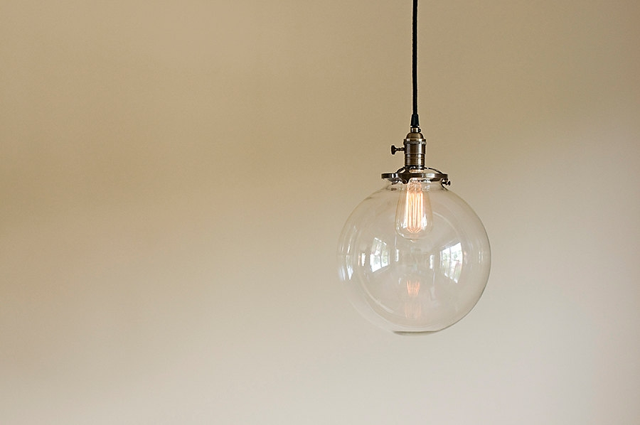 Brilliant Deluxe Globe Pendant Light Fixtures With Glass Globe Pendant Light Fixture 10 Hand Blown Glass (Image 6 of 25)