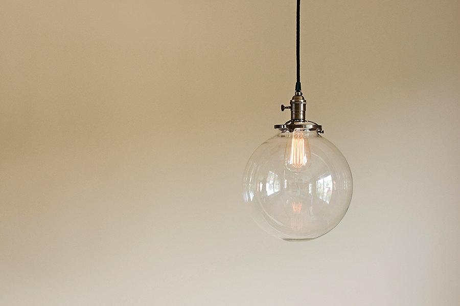 Brilliant Deluxe Globe Pendant Light Fixtures With Glass Globe Pendant Light Fixture 10 Hand Blown Glass (View 12 of 25)