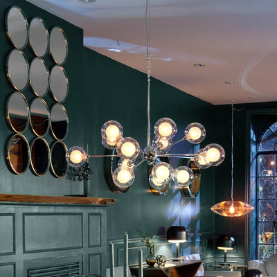 Brilliant Deluxe Yves Pendant Lights With Regard To Yves 15 Light Cluster Pendant Reviews Allmodern (Image 3 of 25)