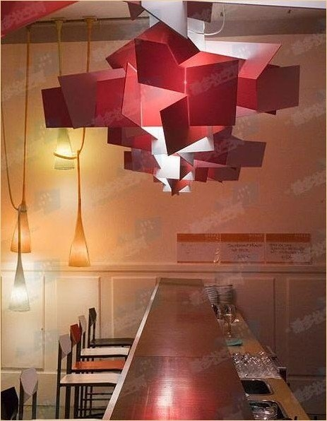 Brilliant Elite Modern Red Pendant Lighting In 3pcs Modern Design Beat Light Pendant Lamp Lighting Fixture Abc (Image 6 of 25)