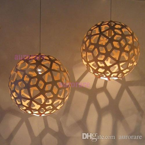Brilliant Elite Wooden Pendant Lights Within David Trubridge Coral Pendant Lamp Wood Pendant Light Suspension (Image 6 of 25)