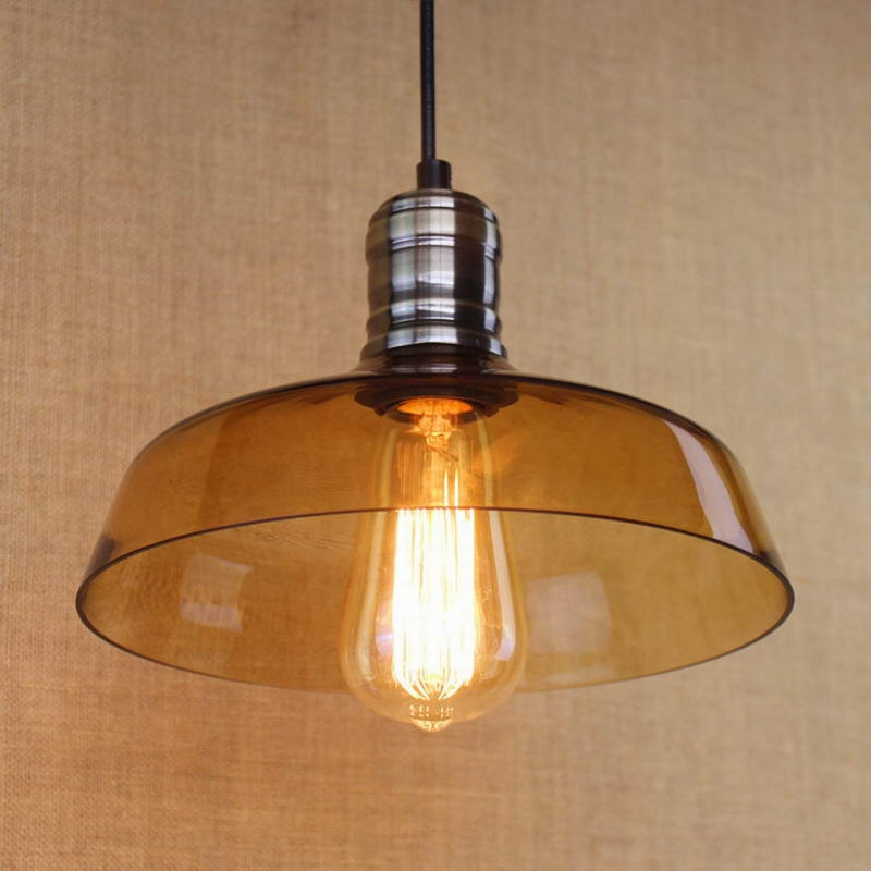 Brilliant Famous Brown Glass Pendant Lights Intended For Aliexpress Buy Hanging Clear Glass Shade Pendant Lamp With (Image 7 of 25)
