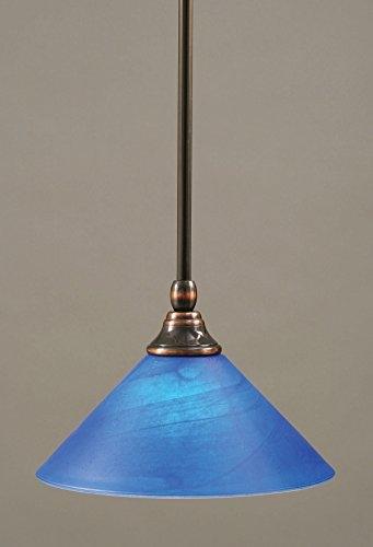 Brilliant Famous Miniature Pendant Lights Within Toltec Lighting 23 Bc 435 Stem Mini Pendant Light Black Copper (Image 8 of 25)