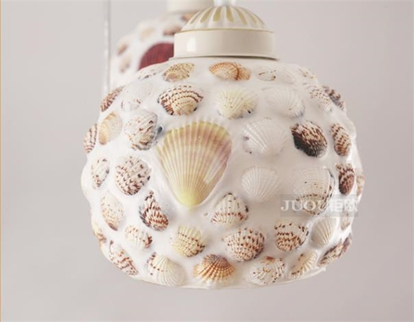 Brilliant Famous Shell Light Shades Within One Light Shell Material Small Type Semi Flush Ceiling Light (Image 9 of 25)