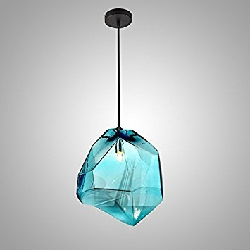 Brilliant Fashionable Glass Pendant Ceiling Lights With Regard To Lovedima Stone 1 Light Mini Colorful Glass Pendant Light Ceiling (Image 6 of 25)