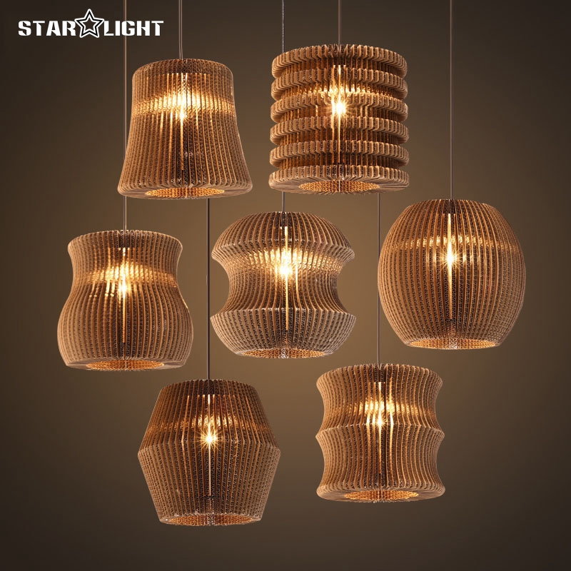 Brilliant Fashionable Paper Pendant Lamps Pertaining To Aliexpress Buy Retro Design Christmas Pendant Lights Special (View 10 of 25)